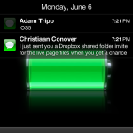 iOS5 notifications on lockscreen