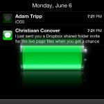 iOS5 notifications on lockscreen