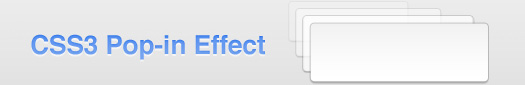 Pop in Effect with CSS Keyframe Animations